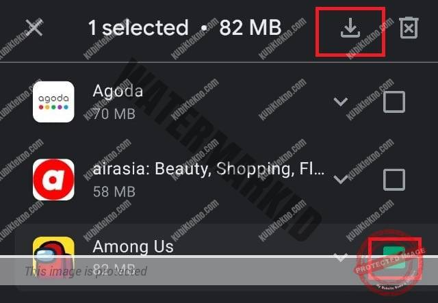 Pilih aplikasi yang ingin diinstall kembali